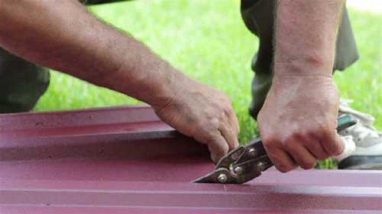 какими ножницами лучше резать металлочерепицу