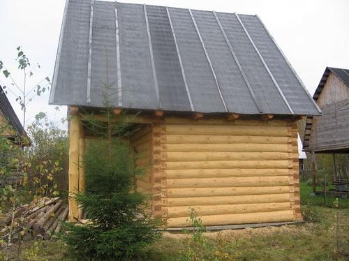 Крыша покрытая рубероидом