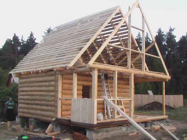 Стропильная система и обрешетка двускатной крыши
