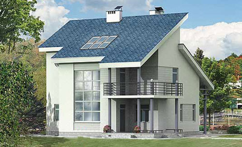 Односкатная мансардная крыша