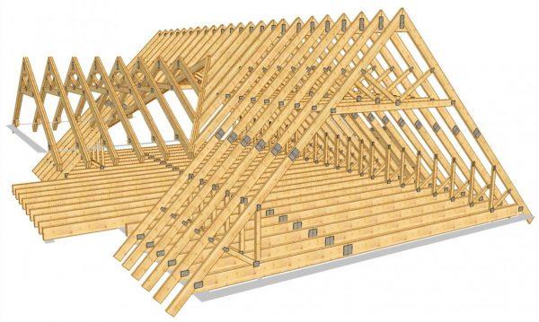 Конструкция стропильной системы мансардной крыши