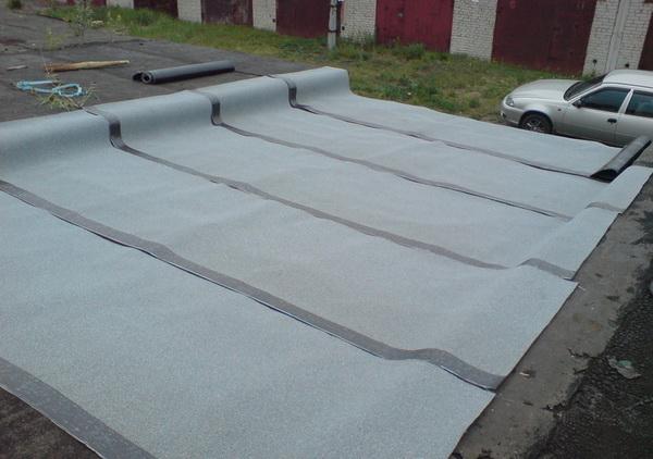 Ремонт крыши гаража покрытой рубероидом