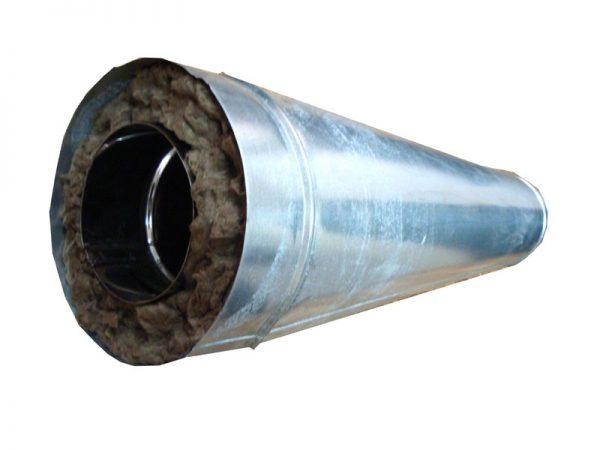 Дымоход в кожухе из оцинкованной стали