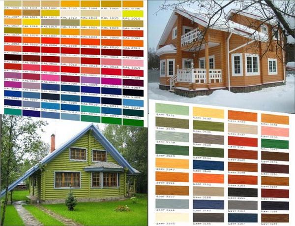 Выбор оттенка для окраски фасада частного дома