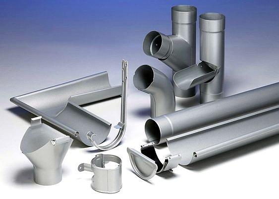 Элементы для водосточной системы дома из металла