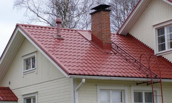 Угол наклона двускатной крыши из металлочерепицы