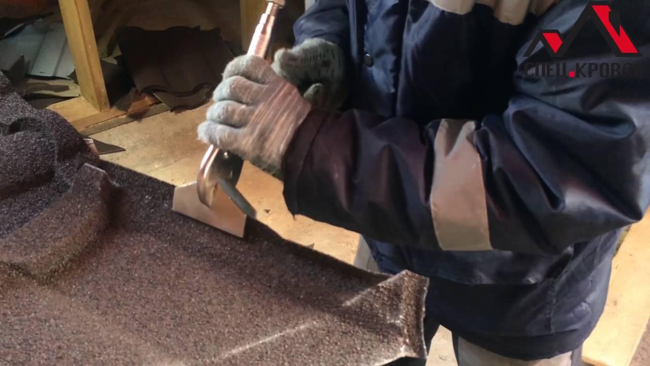 Подготовка композитной металлочерепицы к монтажу