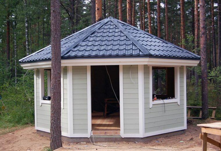 Шестигранная крыша для беседки