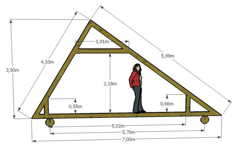 Чертеж крыши с разными скатами