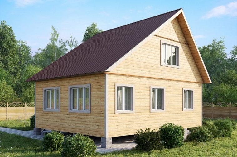 Мансарда в доме с асимметричной крышей