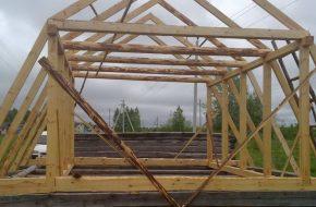 Расчет стропильной системы для ломаной крыши