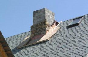 Производим отделку дымохода на крыше