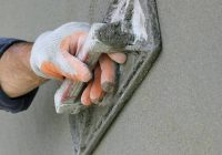 Нанесение штукатурки на пенопласт