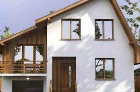 Асимметричная двухскатная крыша с разными скатами